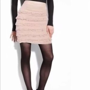 . Diane Von Furstenberg blush ruffle skirt 6 .